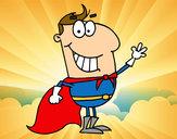 Disegno Supereroi piccolo pitturato su matylan