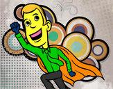 Disegno Superpadre pitturato su cristiano