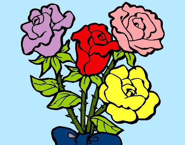 Disegno Mazzo Di Rose Colorato Da Walviolet Il 03 Di Agosto Del 2012