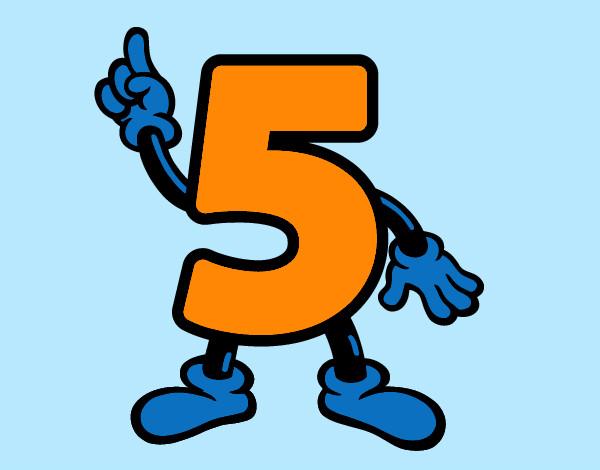 Disegno numero 5 colorato da walviolet il 01 di agosto del 2012 - Numeri per tavoli da stampare ...