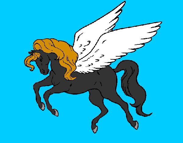 Disegno Pegaso Che Vola Colorato Da Walviolet Il 03 Di Agosto Del 2012