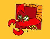 Disegno Segno di Scorpione pitturato su ilymat