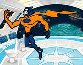 Disegno Supereroi potente pitturato su giusepppe