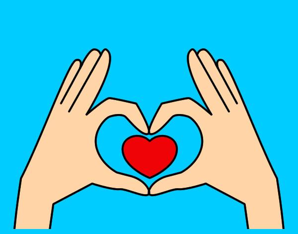Disegno cuore con le mani colorato da love1d il 08 di for Disegni da colorare con cuori