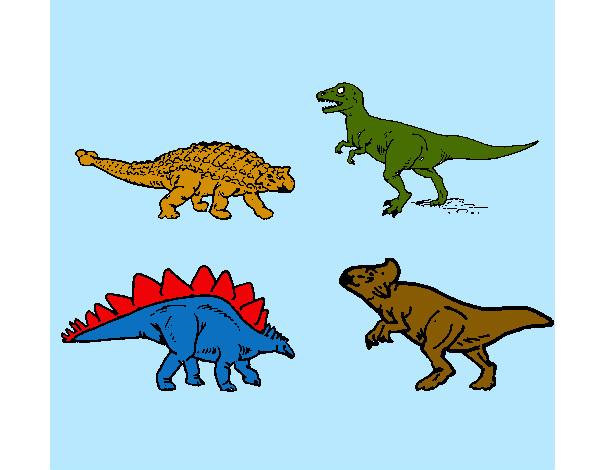 Disegno dinosauri di terra colorato da mattiaaaaa il 08 di - Immagini di marmellata di animali a colori ...