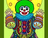 Disegno Pagliaccio mascherato  pitturato su _matty4_