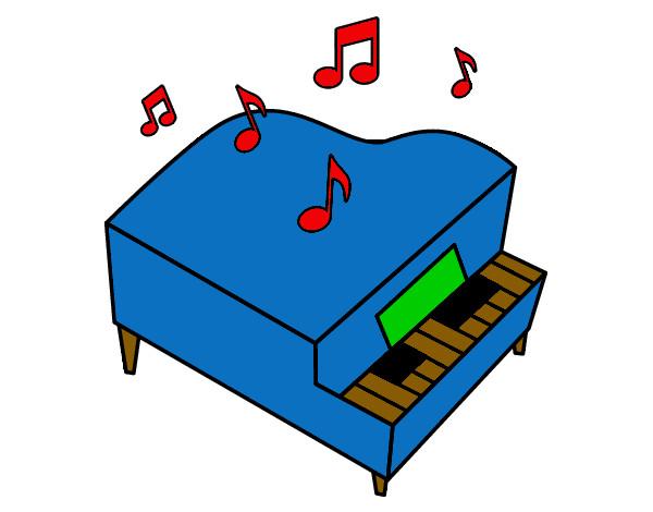 Disegno pianoforte a coda colorato da silvia il 19 di for Disegno del piano online