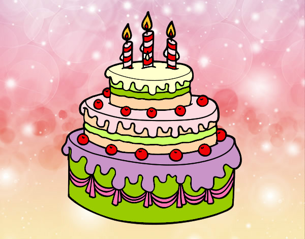 Disegno Compleanno: Disegno Torta Per Sofia Colorato Da Emyrandi Il 22 Di