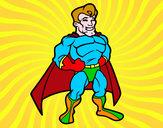 Disegno Muscoloso supereroe pitturato su _matty4_