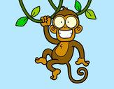 Disegno Scimmia appesa pitturato su _matty4_