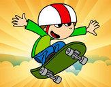 Disegno Bambino su skate pitturato su _matty4_