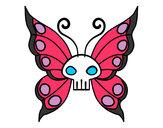 Disegno Emo Farfalla pitturato su loschi