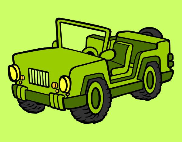 Disegno Jeep Colorato Da Clelia Il 31 Di Agosto Del 2012