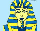 Disegno Tutankamon pitturato su Bianca03