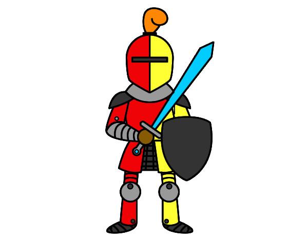 Disegno cavaliere colorato da dd140da il 03 di settembre - Cavaliere modello a colori ...