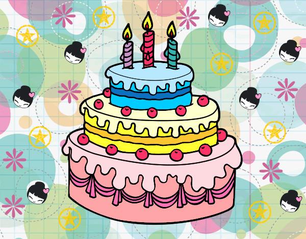 Disegno Compleanno: Disegno Torta Colorato Da Marti625 Il 05 Di Settembre Del 2012