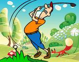 Disegno Golfista pitturato su marti625