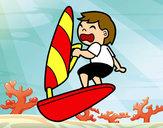 Disegno Windsurf pitturato su marti625