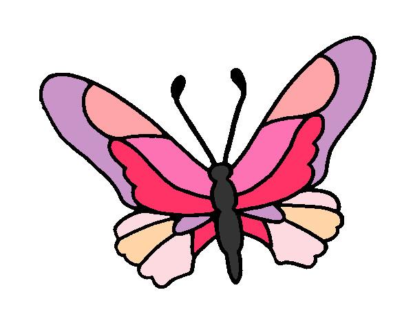 Disegno farfalla colorato da princess il 11 di settembre - Immagini di farfalle a colori ...