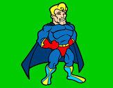 Disegno Muscoloso supereroe pitturato su Gogeta2000