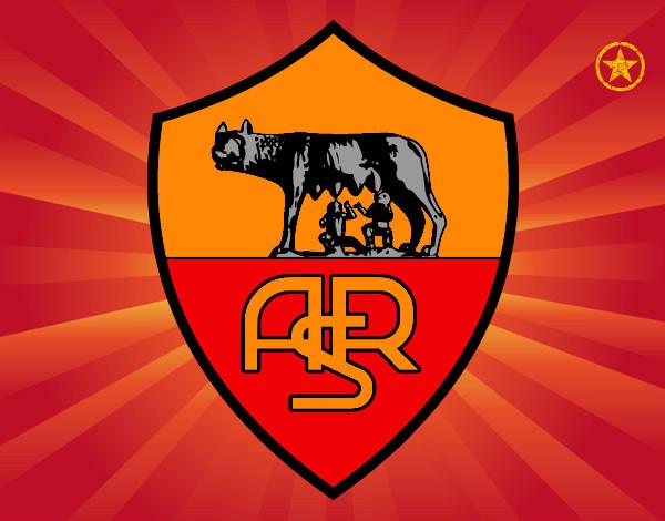 Disegno stemma del as roma colorato da totti il 14 di for Disegni della roma da colorare