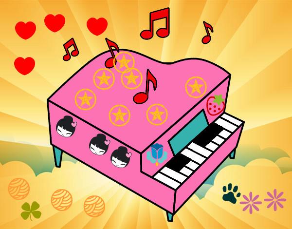 Disegno piano rosa colorato da anitorsola il 17 di ottobre for Disegno del piano online