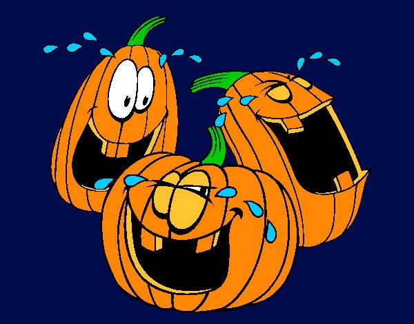 Disegno zucche colorato da giorgia il 21 di ottobre del 2012 for Disegni di zucche