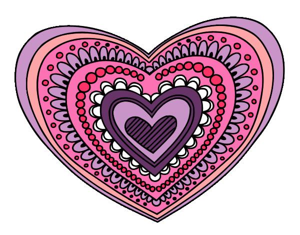 Disegno cuore colorato da gabriel il 01 di novembre del 2012 for Disegni di cuori da stampare gratis