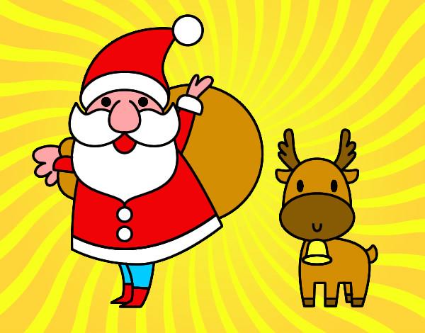 Disegni Di Babbo Natale Con Le Renne Colorati сanzoni Di Natale