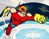 Disegno Superhero senza una cappa pitturato su Gugu