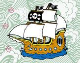 Disegno Barca Pirata pitturato su maria69