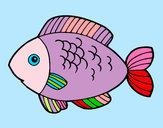 Disegno Pesce da mangiare pitturato su lulono