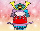 Disegno Samurai cinese pitturato su Chimera
