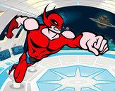 Disegno Superhero senza una cappa pitturato su nicolas