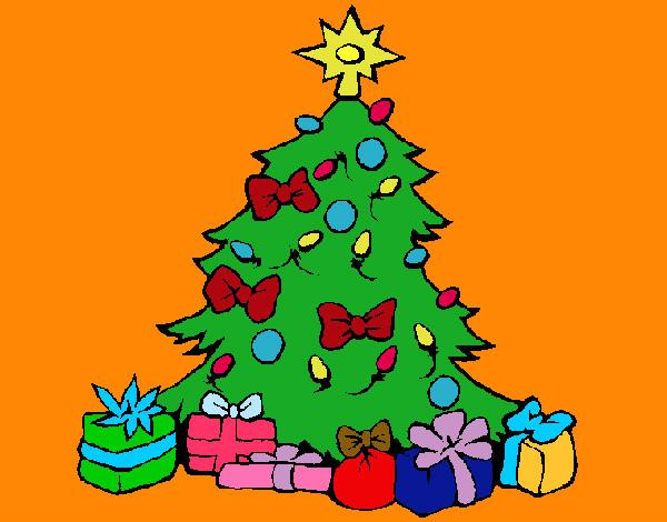 Disegno Albero Di Natale Colorato Immagini Di Natale
