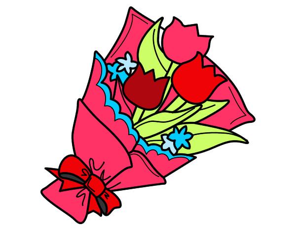 Disegno mazzo di tulipani colorato da gregorio il 06 di for Disegni del mazzo del cortile anteriore
