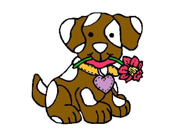 Disegno cagnolino colorato da paradisa il 04 di dicembre for Bocca da colorare