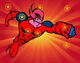 Disegno Superhero senza una cappa pitturato su ciccio2006