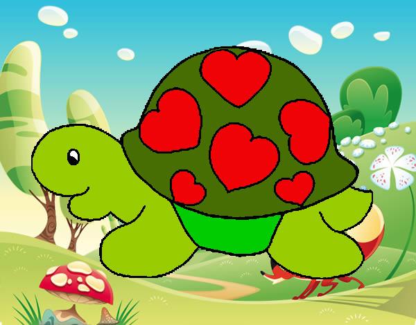 Disegno tartaruga con cuori colorato da manucipo il 03 di for Disegni da colorare con cuori