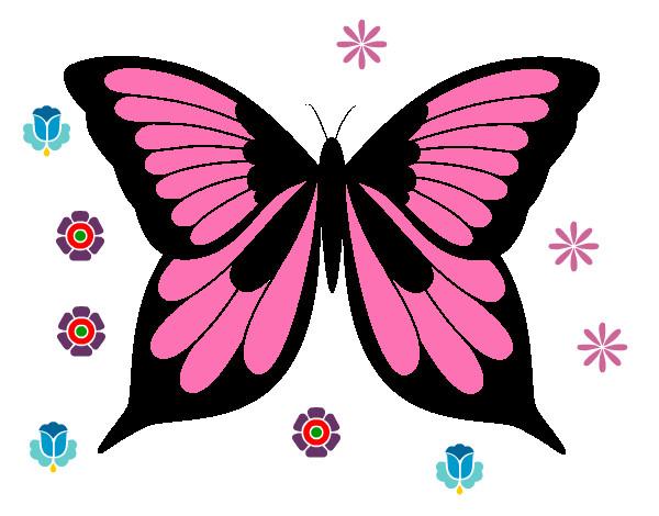 Disegno Farfalla 8 Colorato Da Lorieanna Il 16 Di Dicembre Del 2012
