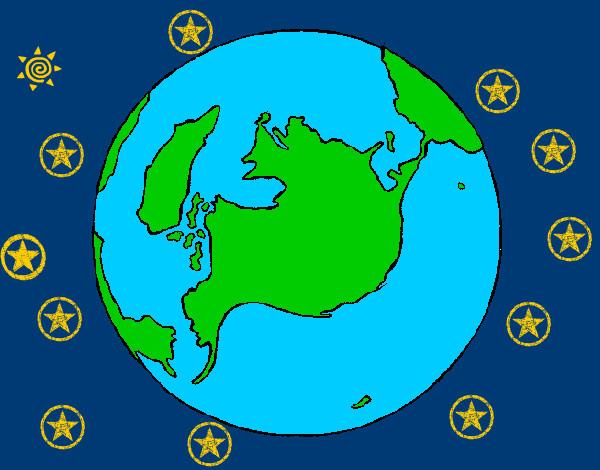 Disegno pianeta terra colorato da gabriel07 il 11 di for Disegno terra da colorare