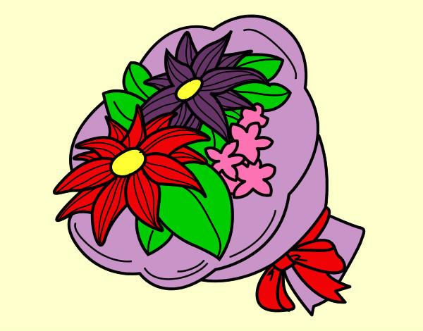 Disegno Mazzo Di Fiori.Disegno Mazzo Di Fiori Colorato Da Thebest522 Il 23 Di Dicembre