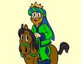 Disegno Gaspare a cavallo pitturato su Bellezza
