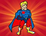 Disegno Muscoloso supereroe pitturato su -ASiiA