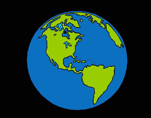 Disegno mondo colorato da davide2007 il 24 di dicembre del - Immagine da colorare della terra ...
