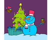 Disegno Natale II pitturato su daniela