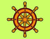 Disegno Ruota del timone pitturato su Cricri