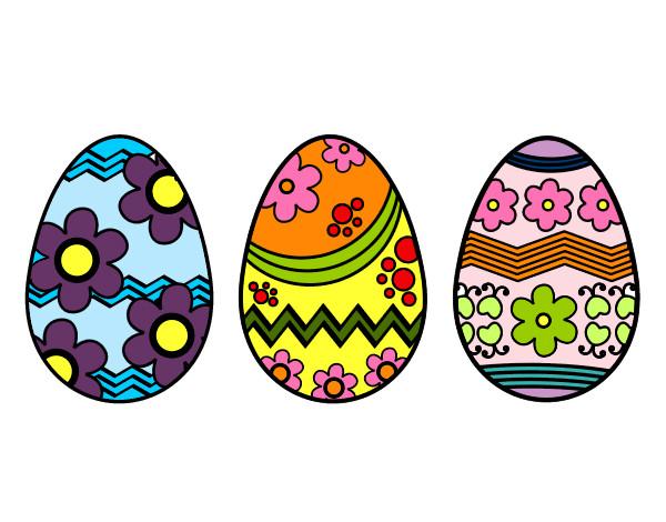 Molto Disegno Tre uovo di Pasqua colorato da Camillotta il 04 di Gennaio  CG29