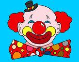 Disegno Pagliaccio con un enorme sorriso  pitturato su robyartist
