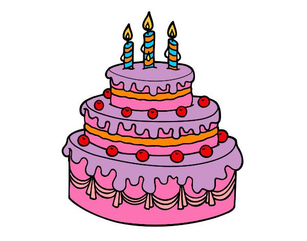 disegno torta di compleanno colorato da thebest522 il 19